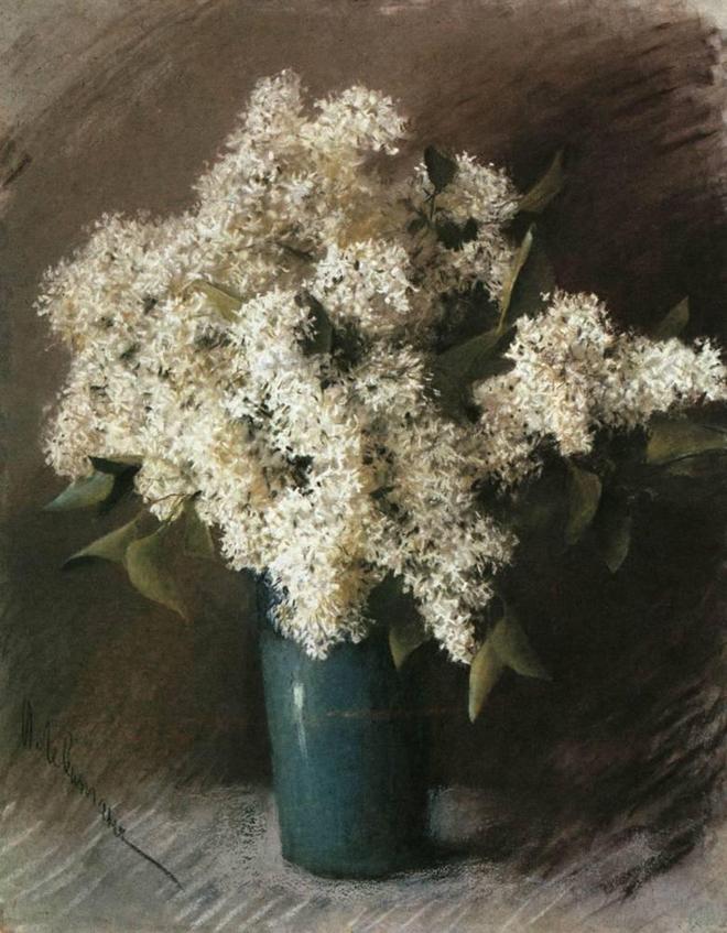 White Lilac, Isaac Levitan, 1895