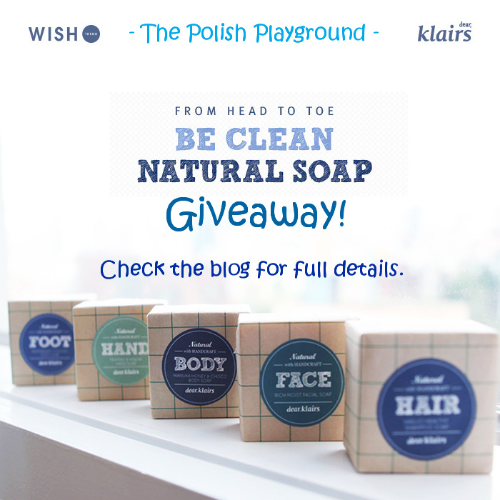 Klairs Be Natural Soap from Wishtrend Giveaway! (3 Winners + Open Worldwide)