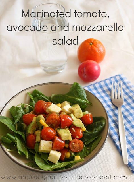Tomato, avocado and mozzarella salad recipe