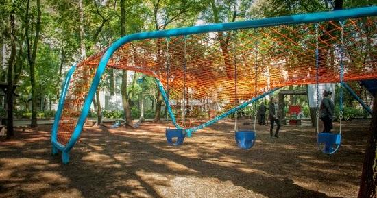 Podio el parque m xico estrena zona infantil for Para desarrollar un parque ajardinado