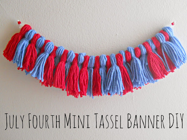 July Fourth Mini Tassel Banner DIY