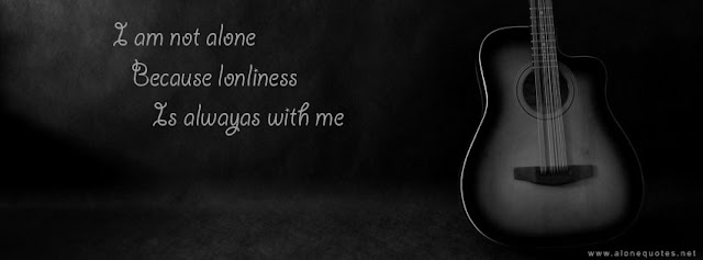 alone quotes with guitar black and white