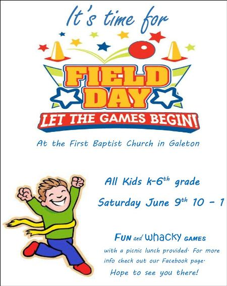 6-9 Field Day at First Baptist Church of Galeton