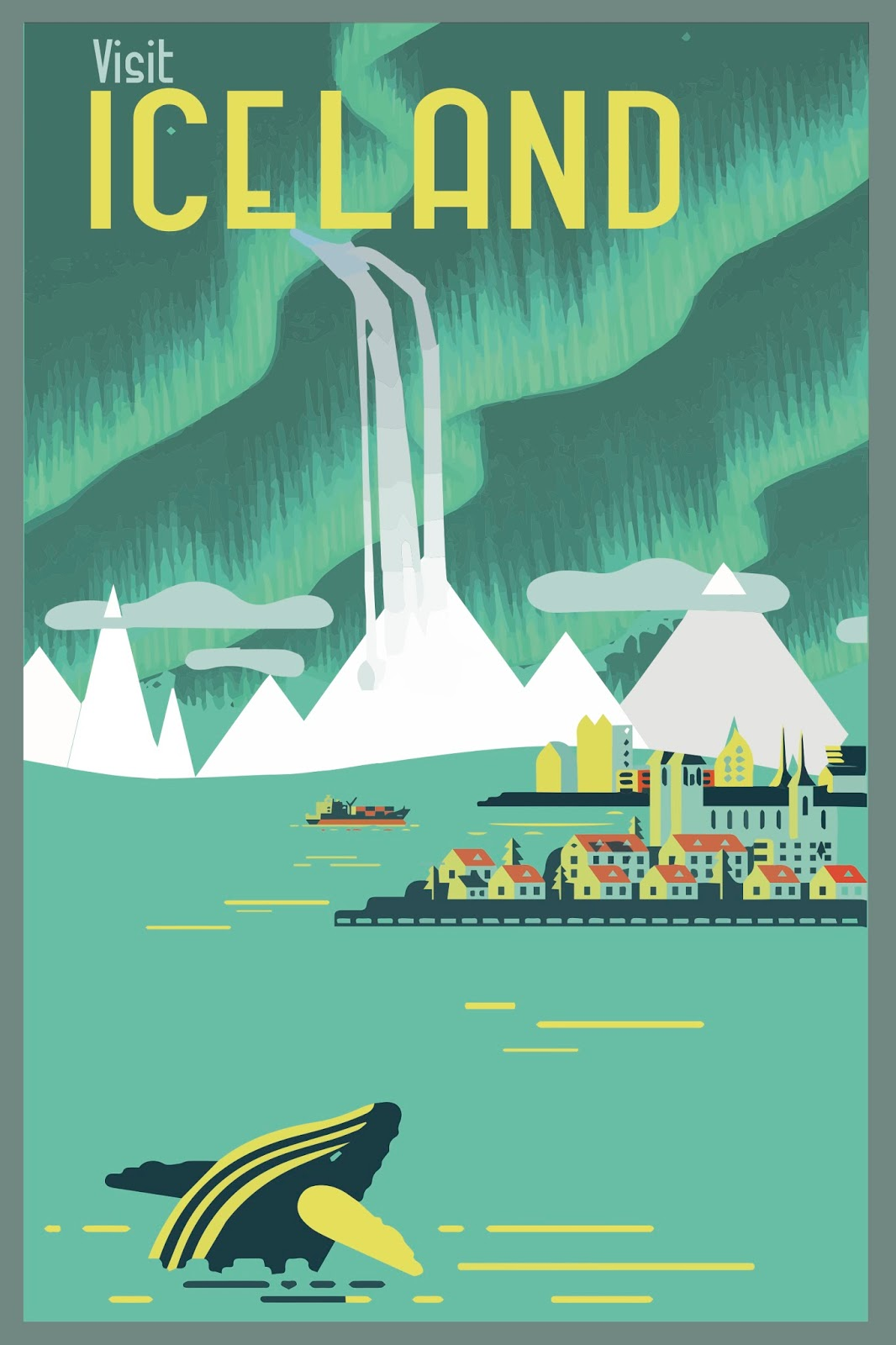 Fiona 39 s graphic design vintage travel poster for Buy cheap posters online