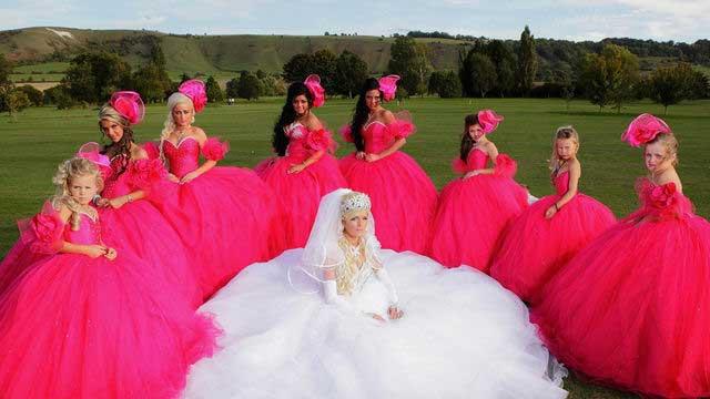 Casual spaghetti straps empire wasit lace floor length satin beach wedding pink wedding dress for brides   cheap beaded wedding pink wedding dresses