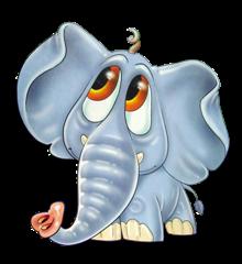 смешной слоник, забавный слоник, рисунок слоника, картинка слон