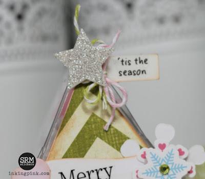 SRM Stickers Blog - Christmas Clear Triangle Box Container by Shantaie - #clearcontainer #triangle #box #giftbox #stickers #twine #DIY