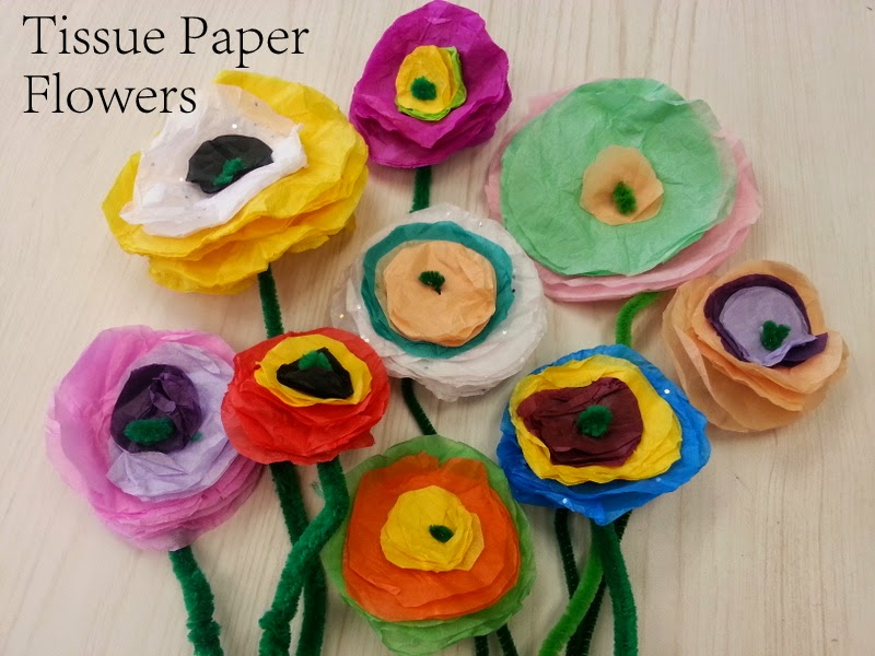 Tissue paper flowers choices for children tissue paper flowers spring crafts for kids mothers day gifts homemade gifts kids can make homemade mightylinksfo Gallery