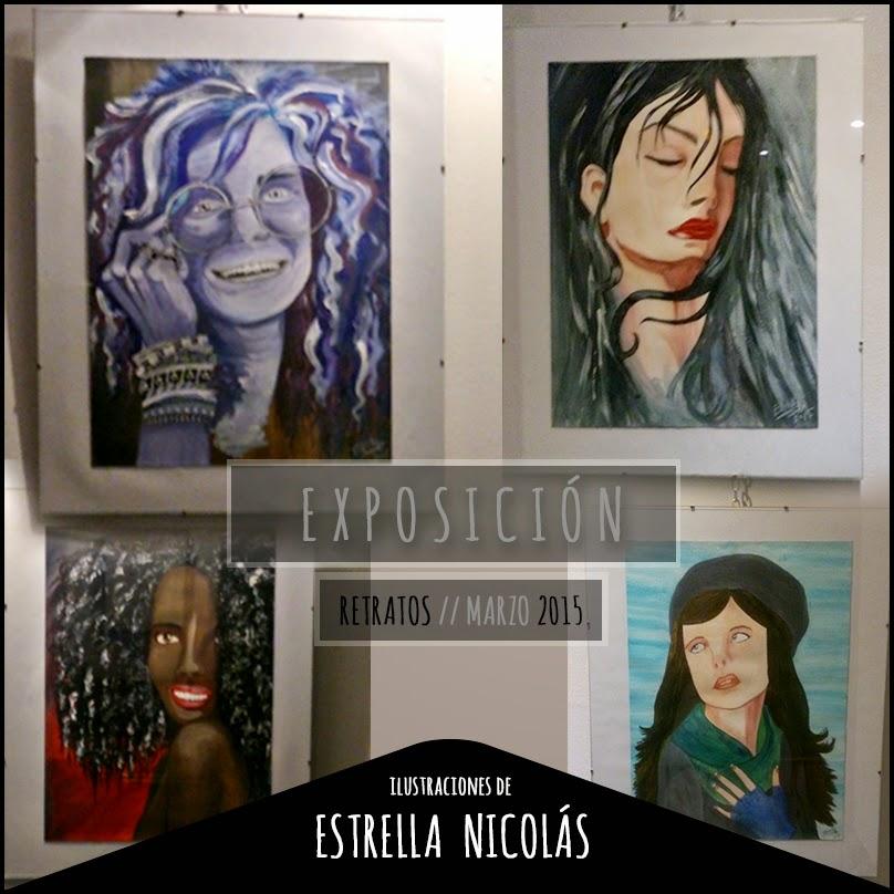 janis joplin, illustration, estrella nicolás, portrait, cuadros, exposición de ilustración