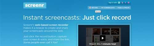 Screenr - gravação de vídeos