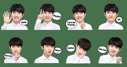 EXO D.O. Special stickers
