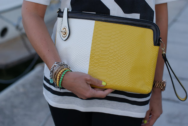 Persunmall bag, color block clutch, neon yellow nail polish, Fashion and Cookies