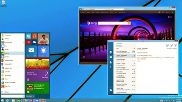Classic Start menu and Modern apps in Windows