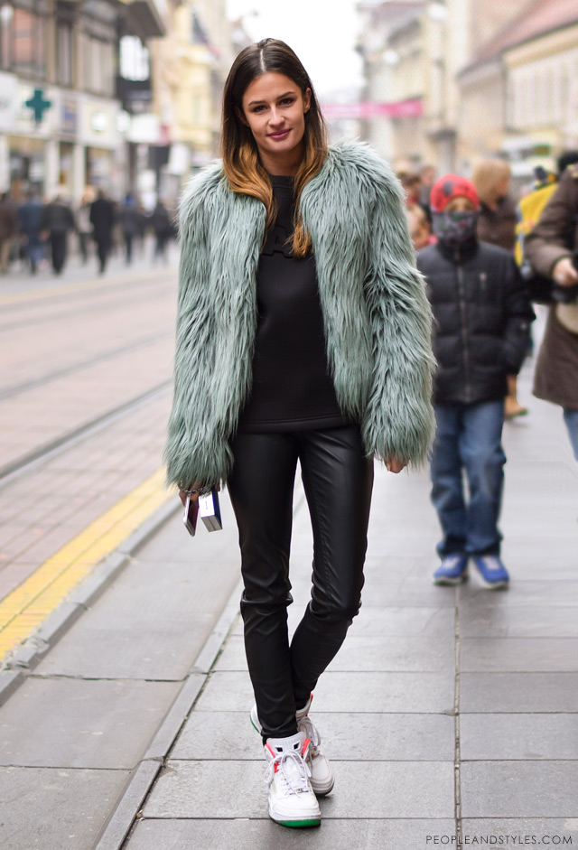 Zrinka Barkiđija, winter cool street style, street fashion Zagreb