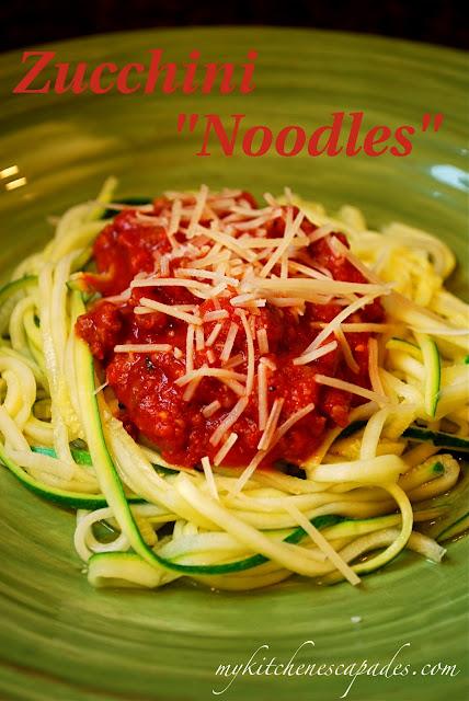 Zucchini Squash Noodles Zoodles