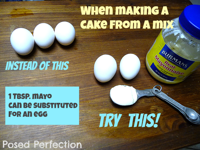 Posed perfection baking tip an egg substitute - Alternative uses for eggs ...