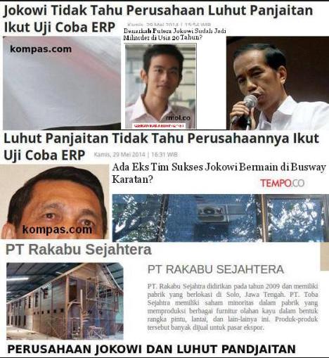 Gosip kerjasama Bisnis bersama Jokowi