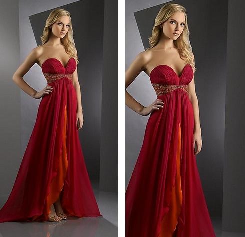 Thalia con vestidos de noche