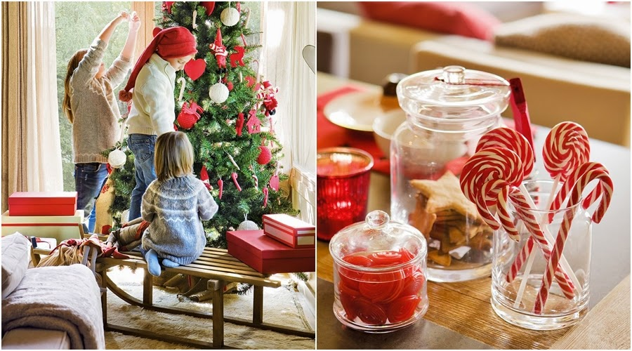 wnętrza, wystrój wnętrz, home decor, dekoracje świąteczne, christmas decor, Boże Narodzenie, Święta, choinka, dom, mieszkanie, domek w górach