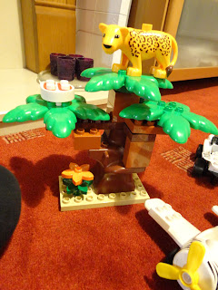 A Cheetah in a Lego Duplo Tree
