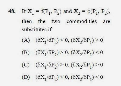 2012 December UGC NET in Economics, Paper III, Question 48