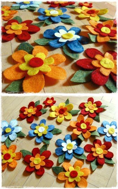 Kwiaty Z Filcu