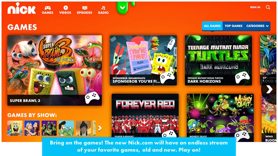 Www Nickolodian Games