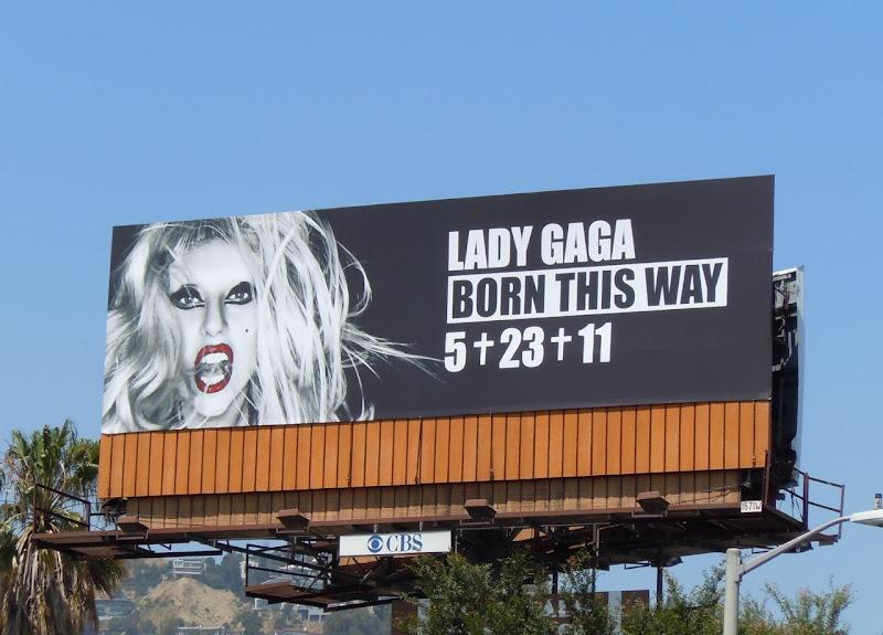 Lady Gaga Born This Way billboard West Hollywood