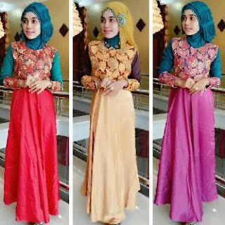 Referensi gaun pesta muslim modis gaya terbaru masa kini