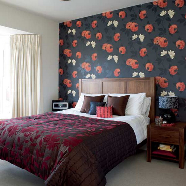 Flowers Wall Wallpapers Design For Your Bedrooms Decorating