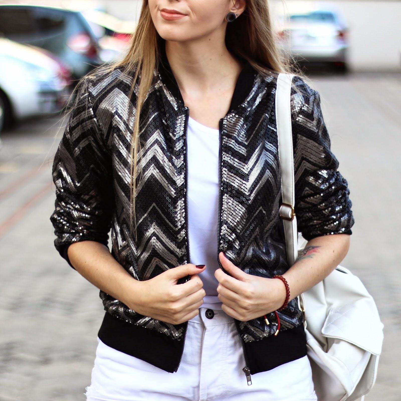 casaco de paetês