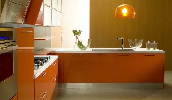 orange Kitchens designs 2014  kitchen ideas