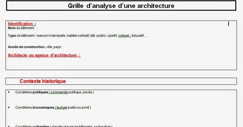 Histoarts 4 grilles d 39 analyse d 39 une oeuvre - Grille indiciaire cpe education nationale ...