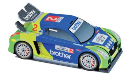 Papermau custom rally paper cars by brother new zealand for Papercraft lancia