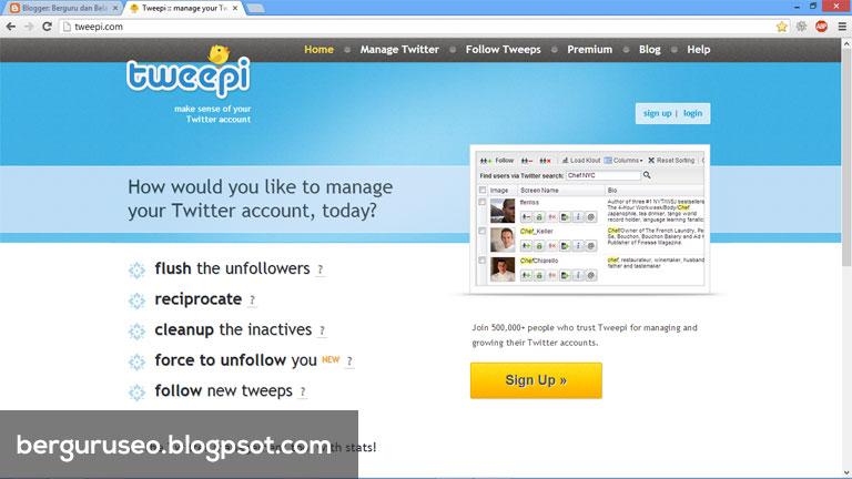 Cara Menambah Followers Twitter dengan Tweepi
