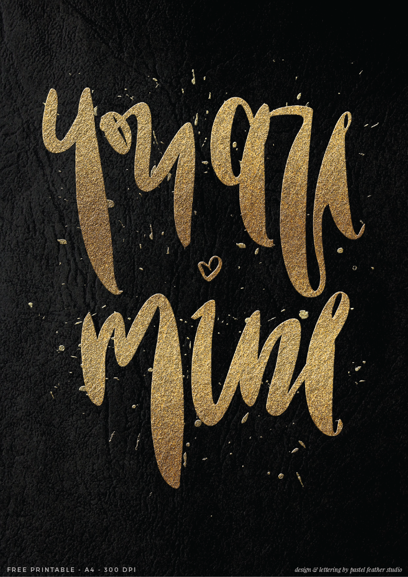Valentines Day free printable + desktop wallpaper - Pastel Feather Studio