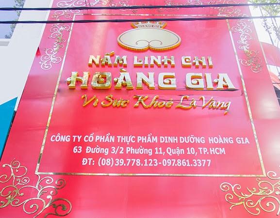 mặt tiền showroom Nấm Linh Chi Hoàng Gia tại 63 đường 3-2, Phường 11, Quận 10, Tp.HCM