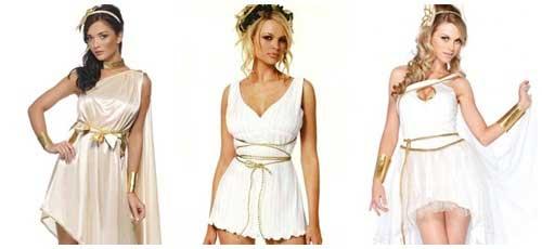 Disfraz casero y sexy de diosa griega collage
