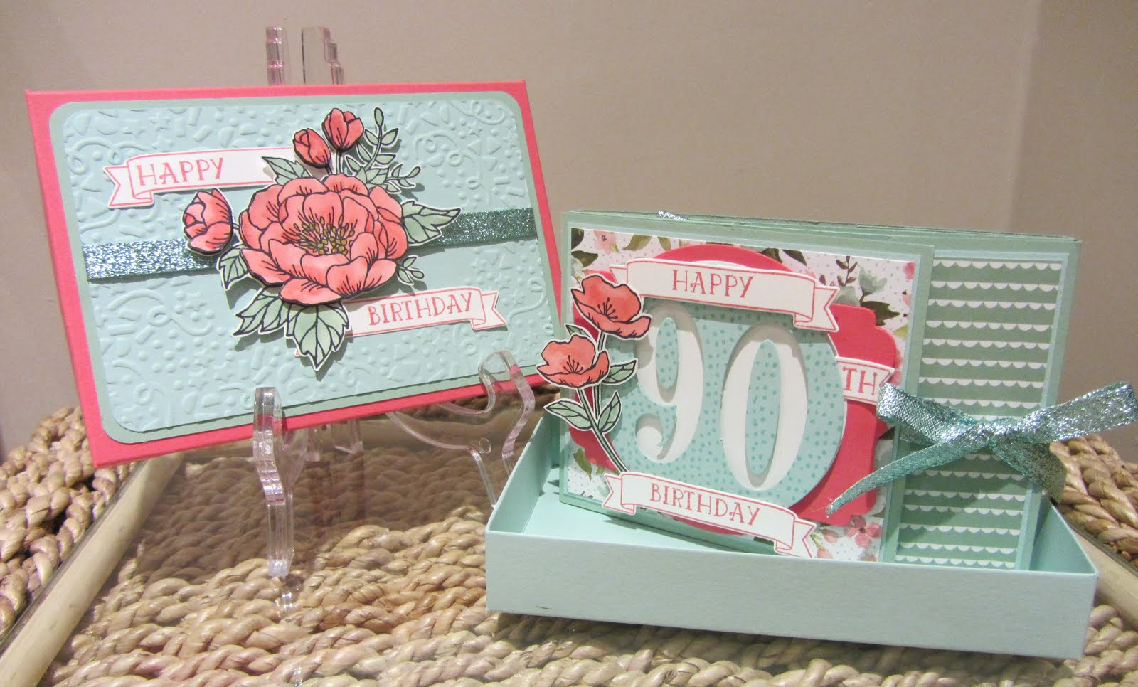 Birthday Blooms Mini Scrapbook Album/Card and Gift Box Stamp Class