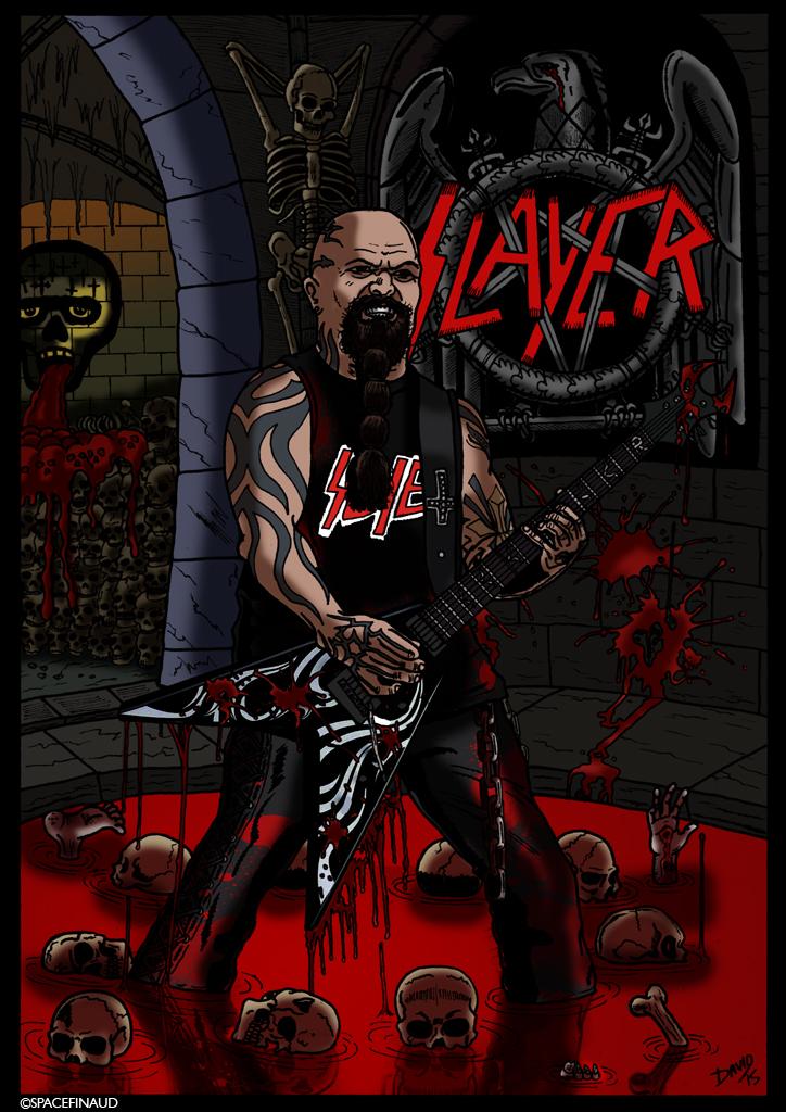 Et voici, Kerry King, célèbre guitariste du groupe de Thrash Metal, SLAYER !!!