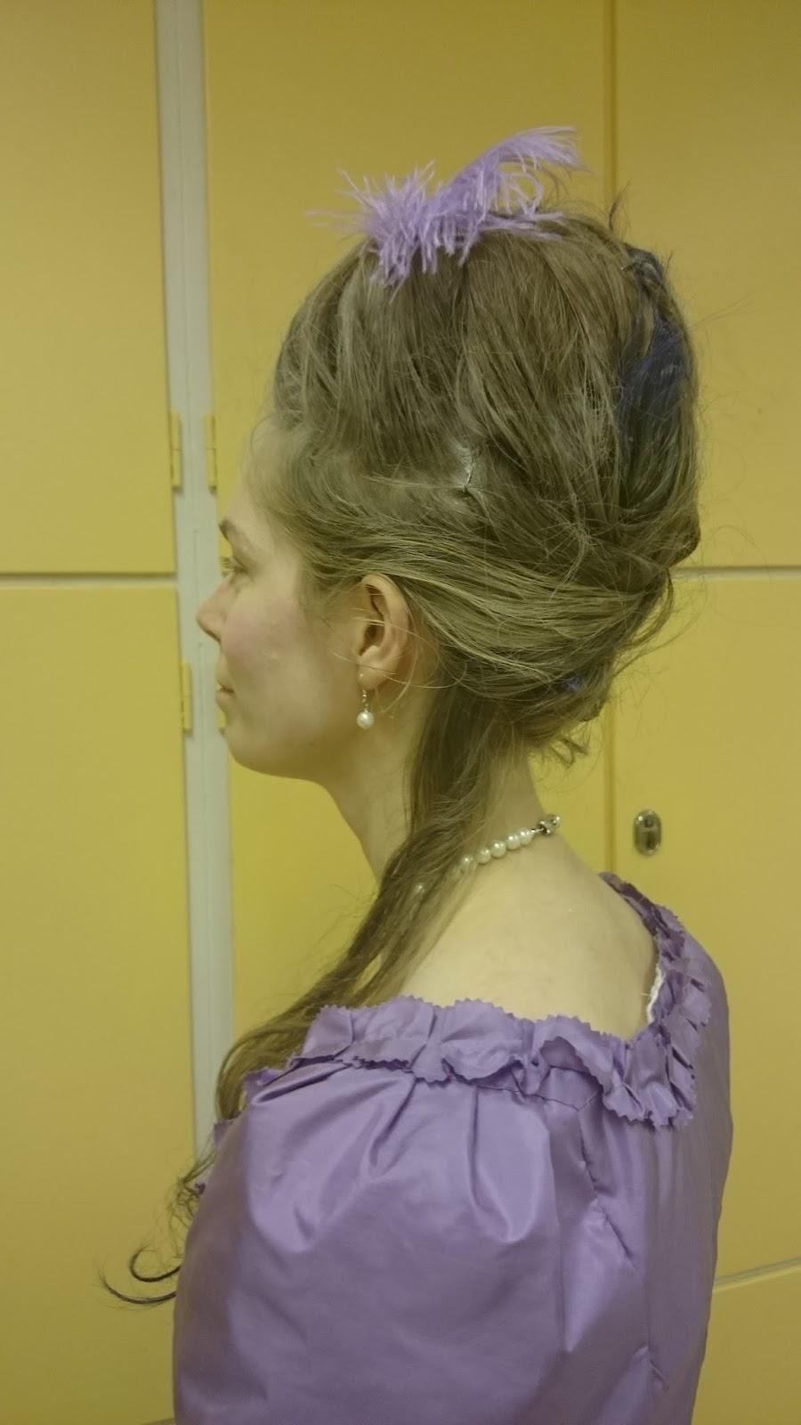 A Costuming Engineer Big 1770s Hair At The Ball
