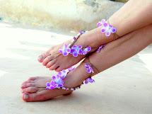 Flower Barefoot Sandals Wedding