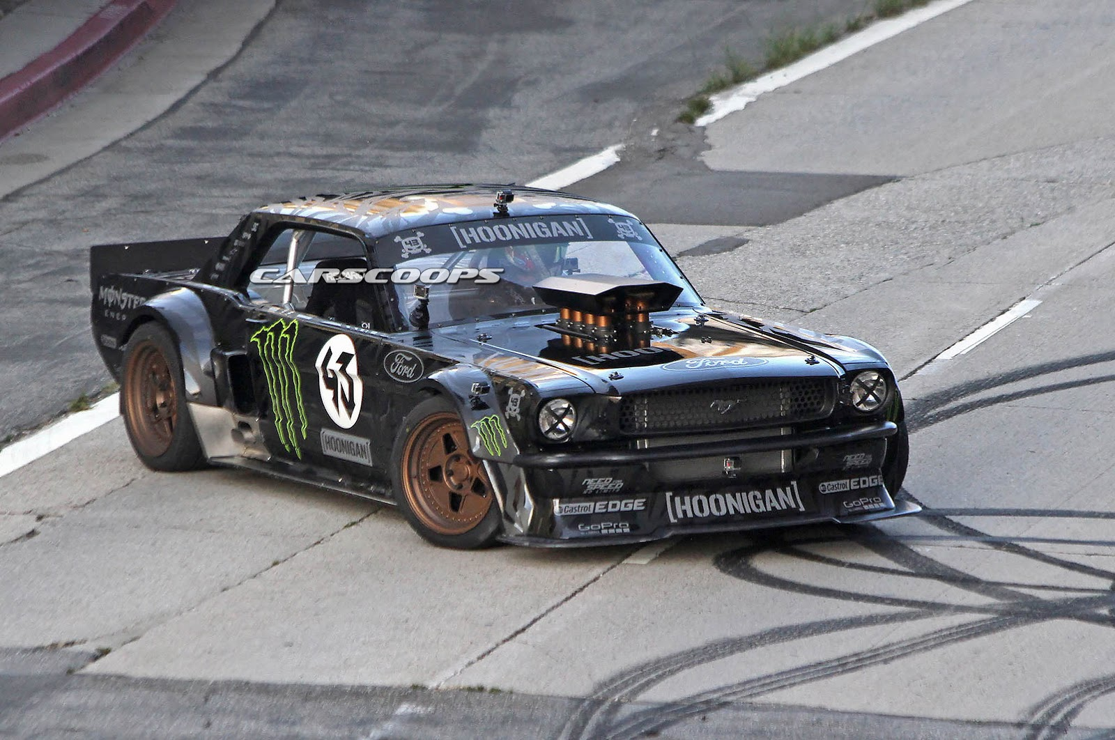 Ken Block Spied Hooning A Ford Mustang For Gymkhana 7