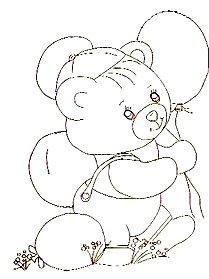 ursinho com baloes