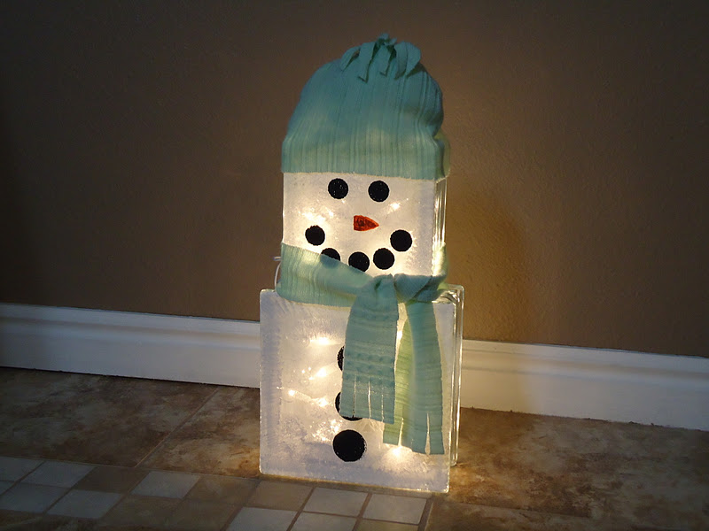 Cobblestones Amp Ivy 1 Sweater 3 Crafts Glass Block Snowman