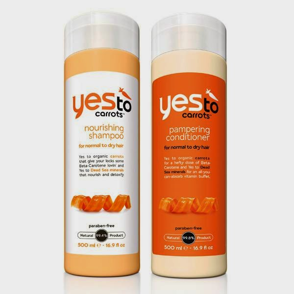 Yes to Carrots shampoo and conditioner