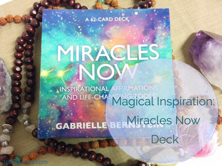 Gabrielle Bernstein's Miracles Now Oracle Card Deck  quick inspiration (or answers) Mala collective gemstones. Add it to your tea or spiritual practice, meditate I don't need to find my purpose will find me