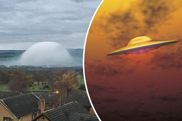 Phénomène étrange de dôme de brume d'OVNI-Capturé au-dessus du nord du Pays de Galles