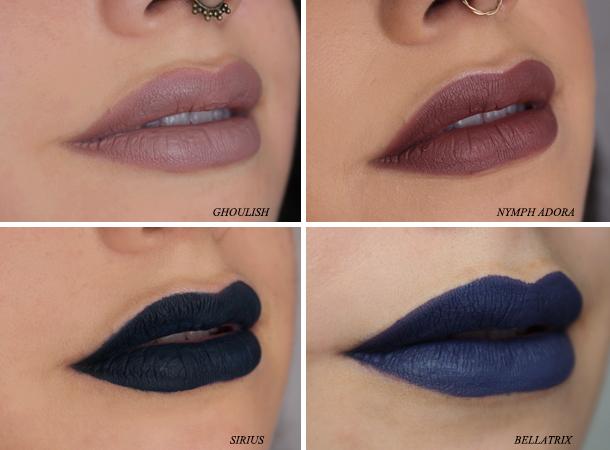liquid lipstick la splash lipcouture mousse liptint smitten review swatch nagini sirius bellatrix nymphadora ghoulish