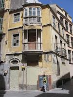 edificio histórico en ruina, calle Andrés Pérez 22